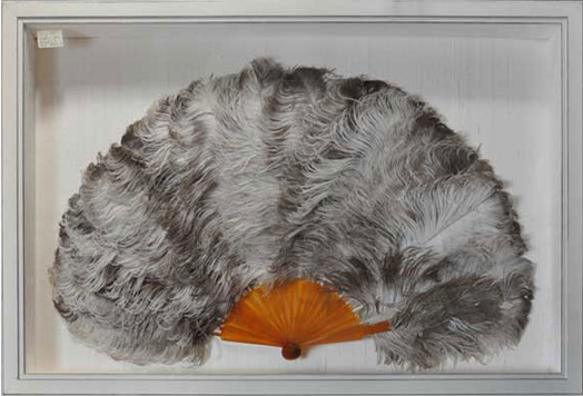 Antique Feather Fan, Where to Frame Large Objects, Difficult Objects to Frame