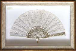 fan framed hang around, how to frame antique fans, feathes, framing experts, restoration andover, salisbury