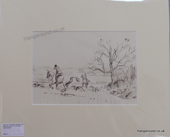 Huntsmen and hounds near tree - Lionel Edwards -  Hunt E6